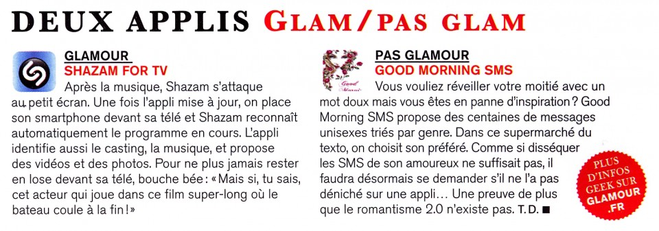 Culture Geek - Glam:Pas Glam
